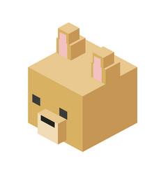 Head modular animal plastic lego toy blocks and vector