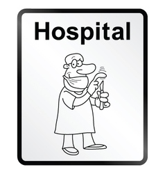Hospital Information Sign vector