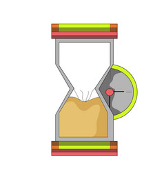 hourglass time finish clip art vector image