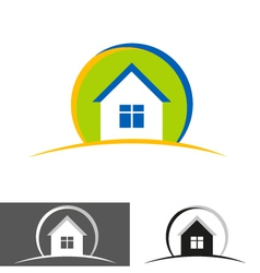 house home logo icon vector image vector image