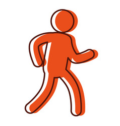 human silhouette doing exercise vector image