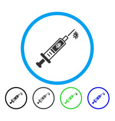 infection injection rounded icon vector image