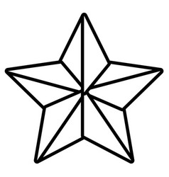 isolated star cartoon vector image