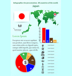 japan infographics for presentation all vector image