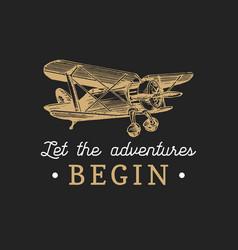 Let the adventures begin motivational quote vector