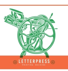 Letterpress overprint design Vintage vector