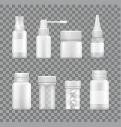 Medicaments set isolated on transparent background vector