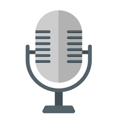 Microphone flat icon studio and sound vector