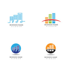 Modern city silhouette in flat design vector