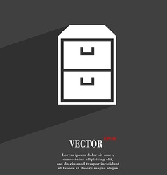 Nightstand symbol flat modern web design with long vector