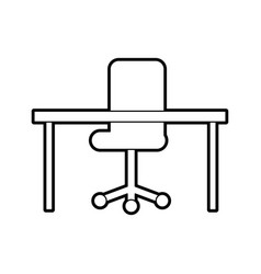 office desk and chair furniture equipment image vector image