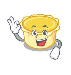 Okay egg tart character cartoon vector