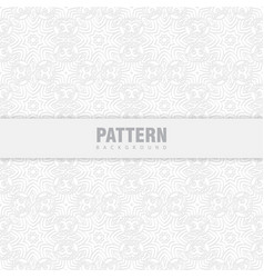 Oriental patterns white background with arabic vector
