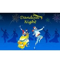 People playing Dandiya vector image