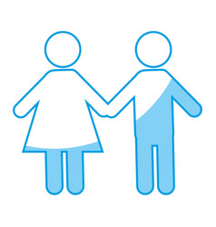 pictogram couple icon vector image vector image