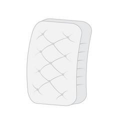 plain white mattress vector image
