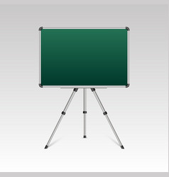 realistic blank whiteboard on tripod stand vector image