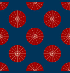 red umbrella on indigo background vector image