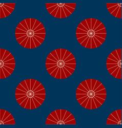 Red umbrella on indigo background vector