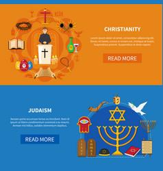 Religions banner set vector
