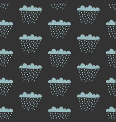seamless cloud pattern with drops of rain vector image