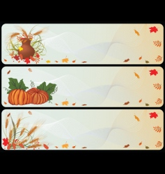 set of autumnal banners vector image