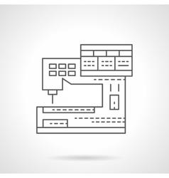 Sewing machine program flat line icon vector image