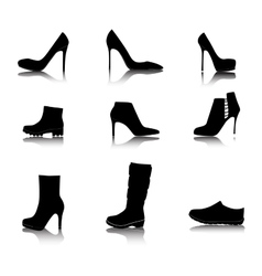 Shoes Silhouette on White Background vector image