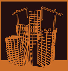 skyscrapers construction vector image
