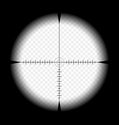Sniper scope template with measurement marks vector