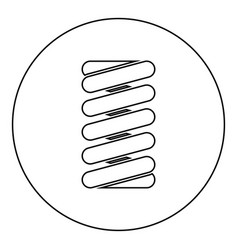 spring coil icon black color in round circle vector image