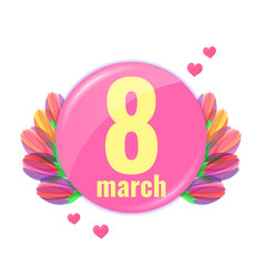 spring stylish 8 march banner vector image