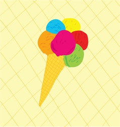 Sweet icecream cone vector