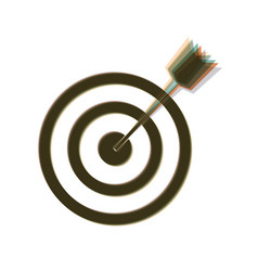 Target with dart colorful icon shaked vector