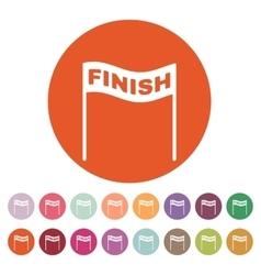 The finish icon Finish symbol Flat vector image