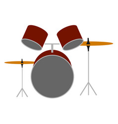 the music drums on white background vector image