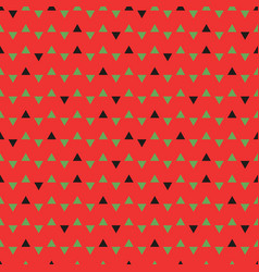 Triangles pattern watermelon vector