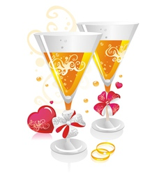Wedding symbols vector