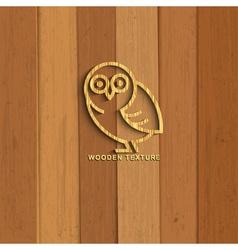 Wooden owl vector image