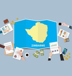 zimbabwe africa economy country growth nation vector image