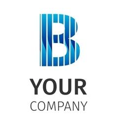 Abstract blue logo b vector