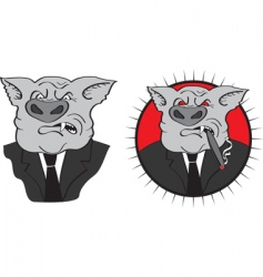 angry pig vector image