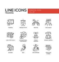 Business training - line design icons set vector