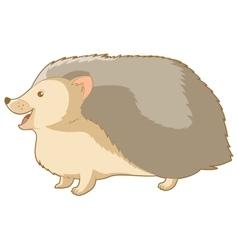 Cartoon smiling hedgehog vector image