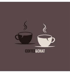 coffee cup chat concept background vector image