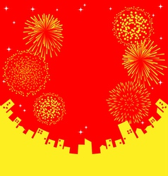 Fireworks abstract Chinese New Year vector image vector image