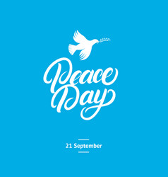 international peace day card poster vector image