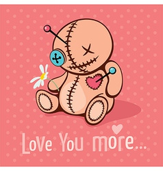 Love you more vector