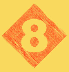 number 8 sign design template element red vector image vector image