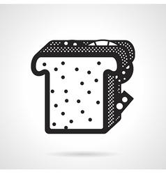 Sandwich black icon vector image vector image